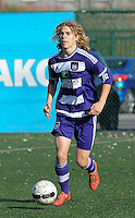 20151031 - KORTRIJK , BELGIUM : Anderlecht 's Andrea Morias  pictured during the Under 19 ELITE soccer match between KV Kortrijk and RSC Anderlecht U19 , on the thirteenth matchday in the -19 Elite competition. Saturday 31 October 2015. PHOTO DAVID CATRY