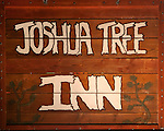 Signboard for Joshua Tree Inn