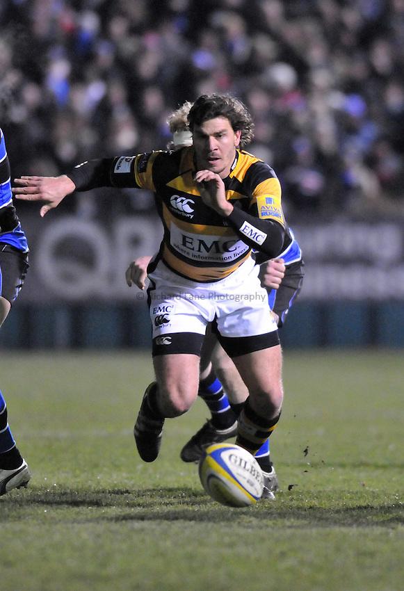 Photo: Tony Oudot/Richard Lane Photography. Bath Rugby v London Wasps. Aviva Premiership. 27/11/2010. .Ben Jacobs of Wasps.