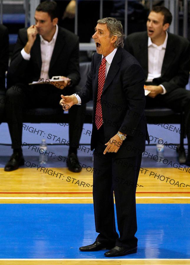 Kosarka, ABA League, sezona 2011/2012.Crvena Zvezda Vs. Zlatorog Lasko.Head coach Svetislav Pesic.Belgrade, 29.10.2011..foto: Srdjan Stevanovic/Starsportphoto ©