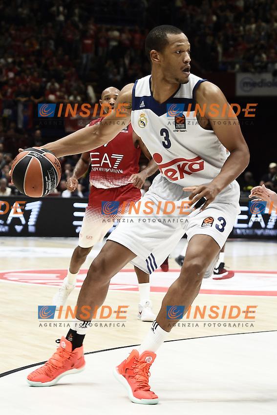 Milano 27/10/2016 - basket Eurolega / EA7 Milano - Real Madrid / foto Daniele Buffa/Image Sport/Insidefoto<br /> nella foto: Anthony Rundolph