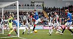 03.11.2018: St Mirren v Rangers: Connor Goldson pulls a header wide of goal