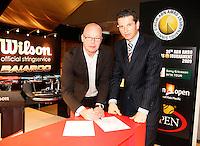 13-2-09,Rotterdam,ABNAMROWTT,  Contractondertekening Wilson - Richard Krajicek