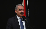 Palestinian Prime Minister Mohammad Ishtayeh attends the fourth annual security conference in the West Bank city of Jericho, April 23, 2019. Photo by Prime Minister Office