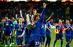 Marouane Fellaini of Manchester United celebrates with the trophy after the UEFA Europa League Final match at the Friends Arena, Stockholm. Picture date: May 24th, 2017.Picture credit should read: Matt McNulty/Sportimage