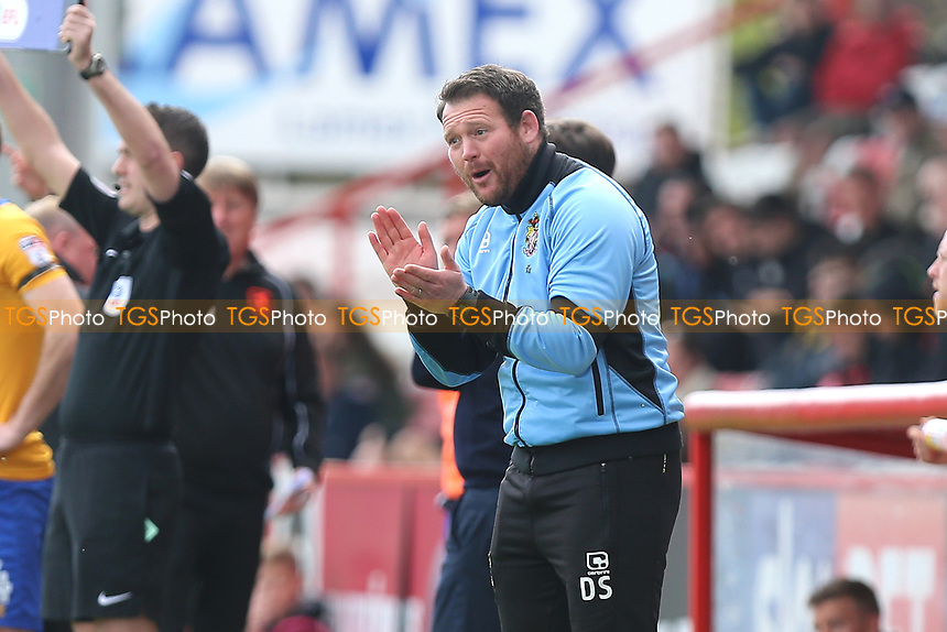 Stevenage manager Darren Sarll during Stevenage vs Mansfield Town, Sky Bet EFL League 2 Football at the Lamex Stadium on 22nd April 2017