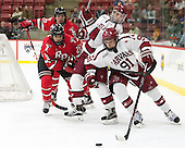Mark Miller (RPI - 26), Seb Lloyd (Harvard - 15), Jake Horton (Harvard - 91) - The Harvard University Crimson defeated the visiting Rensselaer Polytechnic Institute Engineers 5-2 in game 1 of their ECAC quarterfinal series on Friday, March 11, 2016, at Bright-Landry Hockey Center in Boston, Massachusetts.
