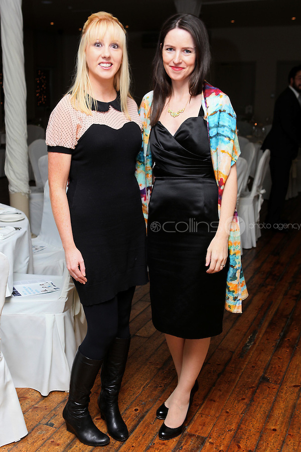 NO REPRO FEE. 23/11/2010. ICCL annual fundraising dinner. Pictured at Fallon and Byrnes, Dublin for the ICCL's fundraising dinner for legal practitioners were Joanne Garvey and Sophie Magennis . Picture James Horan/Collins Photos