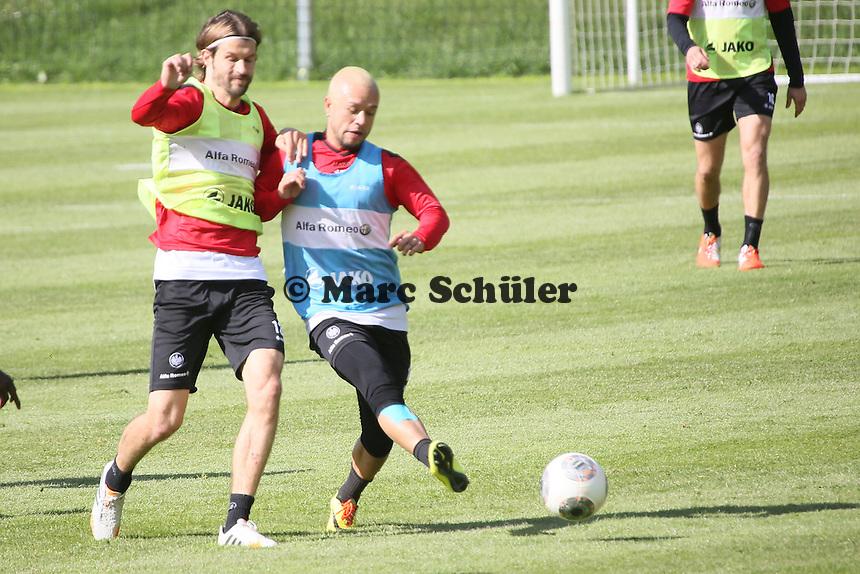 Martin Lanig und Stephan Schröck - Eintracht Frankfurt Training, Commerzbank Arena
