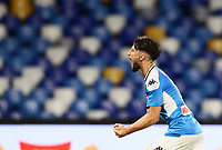 12th July 2020; Stadio San Paolo, Naples, Campania, Italy; Serie A Football, Napoli versus AC Milan; Dries Mertens of napoli celebrates after scoring his goal in the 22nd  minute for 2-1