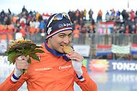 SPEED SKATING: COLLALBO: Arena Ritten, 12-01-2019, ISU European Speed Skating Championships, European Champion Sprint, Kai Verbij (NED), ©photo Martin de Jong