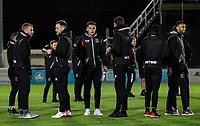 Blackpool players inspect the pitch before the match<br /> <br /> Photographer Andrew Kearns/CameraSport<br /> <br /> The Emirates FA Cup Second Round - Solihull Moors v Blackpool - Friday 30th November 2018 - Damson Park - Solihull<br />  <br /> World Copyright © 2018 CameraSport. All rights reserved. 43 Linden Ave. Countesthorpe. Leicester. England. LE8 5PG - Tel: +44 (0) 116 277 4147 - admin@camerasport.com - www.camerasport.com