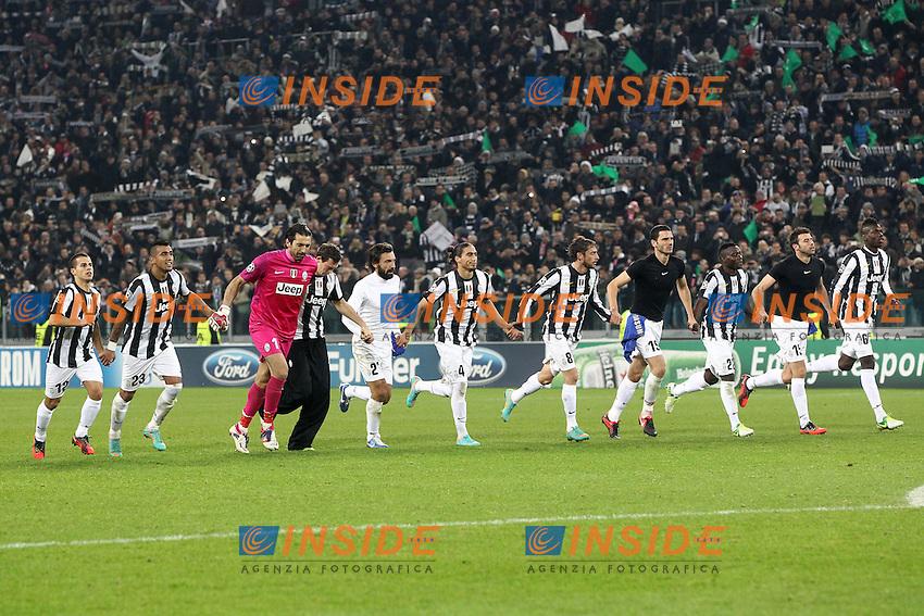 "Esultanza squadra Juventus.Torino 20/11/2012 Stadio ""Juventus"".Football Calcio UEFA Champions League 2012/13.Juventus v Chelsea.Foto Insidefoto Paolo Nucci."