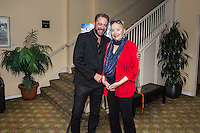 """Brent Roske and Sally Kirkland attend the Screening and Reception for Feature Film """"Courting Des Moines"""" at the Charlie Chaplin Theater, Raleigh Studios in Los Angeles on Thursday, June 30, 2016 (Photo by Inae Bloom/Guest of a Guest)"""