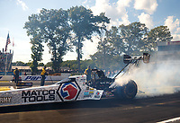 Jun 9, 2017; Englishtown , NJ, USA; NHRA top fuel driver Antron Brown during qualifying for the Summernationals at Old Bridge Township Raceway Park. Mandatory Credit: Mark J. Rebilas-USA TODAY Sports