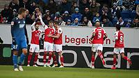 10.02.2018, Wirsol Rhein-Neckar-Arena, Sinsheim, GER, 1.FBL, TSG 1899 Hoffenheim vs FSV Mainz 05, <br />Emil Berggreen (FSV Mainz 05) goal  1:1 *** Local Caption *** © pixathlon<br /> Contact: +49-40-22 63 02 60 , info@pixathlon.de
