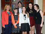 Sinead O'Neill who was confirmed at the The Church of the Immaculate Conception Termonfeckin pictured with her family and sponsor Laura Kelly. Photo:Colin Bell/pressphotos.ie