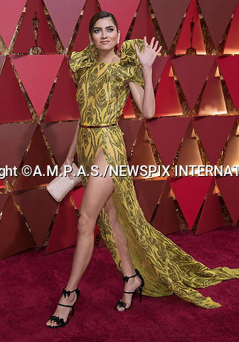 26.02.2017; Hollywood, USA: BLANCA BLANCO<br /> attends The 89th Annual Academy Awards at the Dolby&reg; Theatre in Hollywood.<br /> Mandatory Photo Credit: &copy;AMPAS/NEWSPIX INTERNATIONAL<br /> <br /> IMMEDIATE CONFIRMATION OF USAGE REQUIRED:<br /> Newspix International, 31 Chinnery Hill, Bishop's Stortford, ENGLAND CM23 3PS<br /> Tel:+441279 324672  ; Fax: +441279656877<br /> Mobile:  07775681153<br /> e-mail: info@newspixinternational.co.uk<br /> Usage Implies Acceptance of Our Terms &amp; Conditions<br /> Please refer to usage terms. All Fees Payable To Newspix International