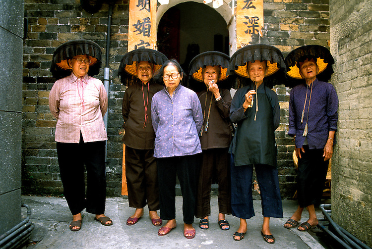 Hong Kong: Hakka Women. Photo: hongko101 .Photo copyright Lee Foster, www.fostertravel.com , 510/549-2202, lee@fostertravel.com