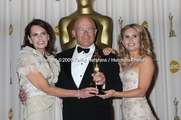 Heath Ledger's Family :  Sally Bel (mother)l, Kim Ledger  (father) &  Kate Ledger (sister) in the 81st Academy Awards Press Room at the Kodak Theater in Los Angeles, CA  on.February 22, 2009.©2009 Kathy Hutchins / Hutchins Photo...                .
