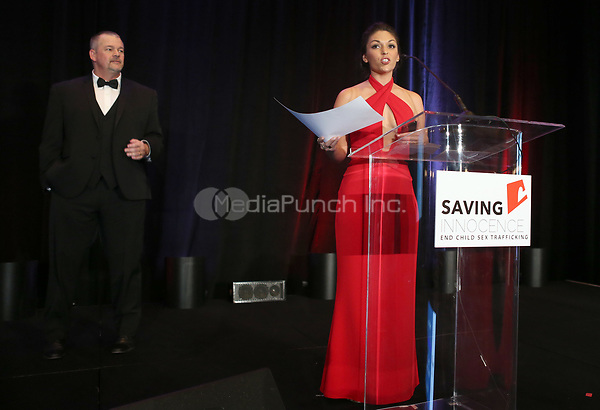 HOLLYWOOD, CA - SEPTEMBER 30: Alan Smith, Deanna Stagliano, at The 6th Annual Saving Innocence Gala_Insde at Loews Hollywood Hotel, California on September 30, 2017. Credit: Faye Sadou/MediaPunch