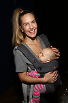 Katie Webber and baby attends the Actors' Equity Broadway Opening Night Gypsy Robe Ceremony honoring Kevin Worley from 'Bandstand' at the Bernard B. Jacobs Theatre on 4/26/2017 in New York City.