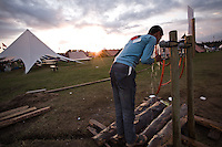 All the water on the camp-site was taken from lacally drilled wells. Photo: Jonas Elmqvist