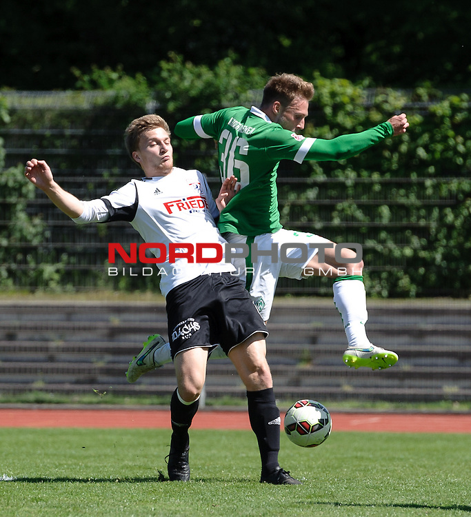 10.05.2015, Platz 11, Bremen, GER, RLN, Werder Bremen II vs L&uuml;neburger SK, im Bild Max Wegner (Bremen #36, rechts)<br /> <br /> Foto &copy; nordphoto / Frisch