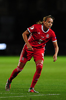 Kayleigh Green of Wales during the UEFA Womens Euro Qualifier match between Wales and Northern Ireland at Rodney Parade in Newport, Wales, UK. Tuesday 03, September 2019