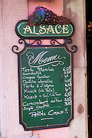 chalk board restaurant colmar alsace france