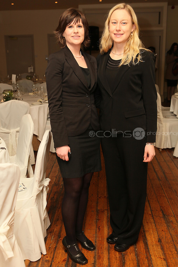 NO REPRO FEE. 23/11/2010. ICCL annual fundraising dinner. Pictured at Fallon and Byrnes, Dublin for the ICCL's fundraising dinner for legal practitioners were Julia Fox and Emma Keane . Picture James Horan/Collins Photos