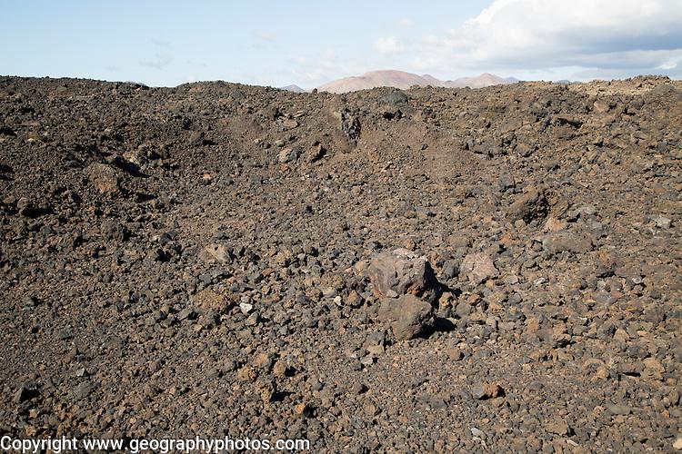 Malpais badlands volcanic landscape Parque Natural Los Volcanes, Yaiza, Lanzarote, Canary islands, Spain