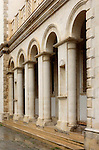 Columns of a Greek orthodox cathedral of Agia Napa in Limassol, Cyprus.