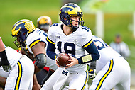 College Park, MD - NOV 11, 2017: Michigan Wolverines quarterback Brandon Peters (18) in action during game between Maryland and Michigan at Capital One Field at Maryland Stadium in College Park, MD. (Photo by Phil Peters/Media Images International)