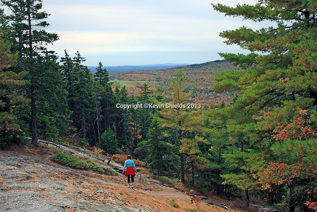 Fall view from Streaked Mountain, Buckfield, Oxford County, Maine, USA.