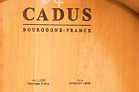 "Cadus Tonnellier (cooperage) Bourgogne, France. Very well specified on the barrel what it is: Allier oak, dried for 3 years (sechage 3 ans) with medium plus toasting (chauffe M+, moyenne plus), and ""extraction lente (slow extraction?...) - Chateau Haut Bergeron, Sauternes, Bordeaux"