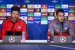Diego Pablo Simeone and Jorge Resurreccion 'Koke' during the Press Conference before the UEFA Champions League match between Atletico de Madrid and Bayer 04 Leverkusen at Wanda Metropolitano Stadium in Madrid, Spain. October 21, 2019. (ALTERPHOTOS/A. Perez Meca)