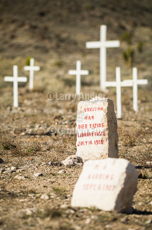 Unknown man died eating library paste. July 14, 1908 who is buried in the Historic early 1900s cemetery, Goldfield, Nevada..