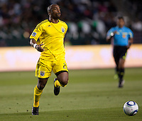 Columbus Crew forward Emilio Renteria (20) chases down a ball. Chivas USA and Columbus Crew played to a 0-0 tie at Home Depot Center stadium in Carson, California on  April  9, 2011....