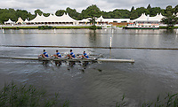 Henley on Thames. United Kingdom. Newcastle University Quag, Training.     Thursday,  30/06/2016,      2016 Henley Royal Regatta, Henley Reach.   [Mandatory Credit Peter Spurrier/ Intersport Images]