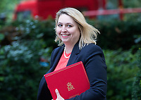 Secretary of State for Culture, Media and Sport Karen Bradley arrives for the cabinet meeting at 10 Downing street