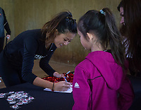 Stanford, CA - February 9, 2020: Fans, Women's Golf at Maples Pavilion. Stanford Women's Basketball defeated the USC Trojans 79-59 on their Senior Night and celebration of National Girls and Women in Sports Day.