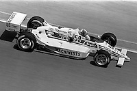 INDIANAPOLIS, IN - MAY 31: Chip Ganassi drives his March 86C 24/Cosworth during practice for the Indianapolis 500 USAC Indy Car race at the Indianapolis Motor Speedway in Indianapolis, Indiana, on May 31, 1986.