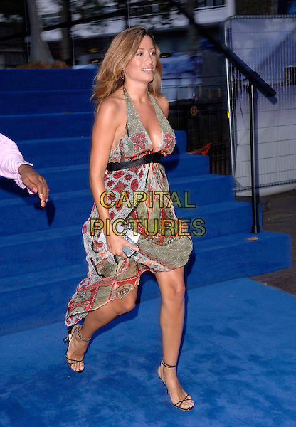 "REBECCA LOOS.European film premiere""Miami Vice"".Odeon cinema Leicester Square.27th July 2006 in London, England.Ref: FIN.half length green pattern dress l.www.capitalpictures.com.sales@capitalpictures.com.©Steve Finn/Capital Pictures."
