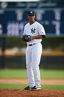 New York Yankees pitcher Albert Abreu (22) gets ready to deliver a pitch during an Instructional League game against the Baltimore Orioles on September 23, 2017 at the Yankees Minor League Complex in Tampa, Florida.  (Mike Janes/Four Seam Images)