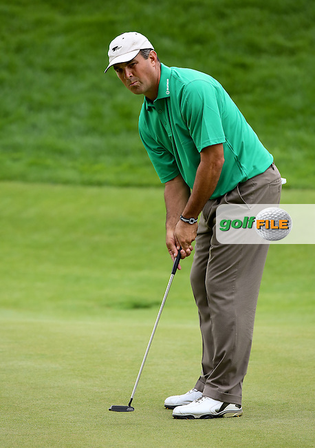 25 JUN 15 Rhode Island native Brad Adamonis during Thursday's First Round at The Travelers Championship at TPC River Highlands in Cromwell,Conn.(photo credit : kenneth e. dennis/kendennisphoto.com)