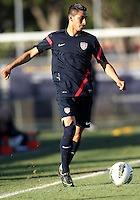 MIAMI, FL - DECEMBER 21, 2012:  Benji Joya of the USA MNT U20 during a closed scrimmage with the Venezuela U20 team, on Friday, December 21, 2012, At the FIU soccer field in Miami.  USA won 4-0.