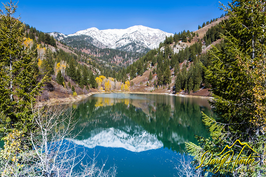 Reflecting on Autumn at Little Elk Canyon on Palisades Reservoir in Swan Valley Idaho.