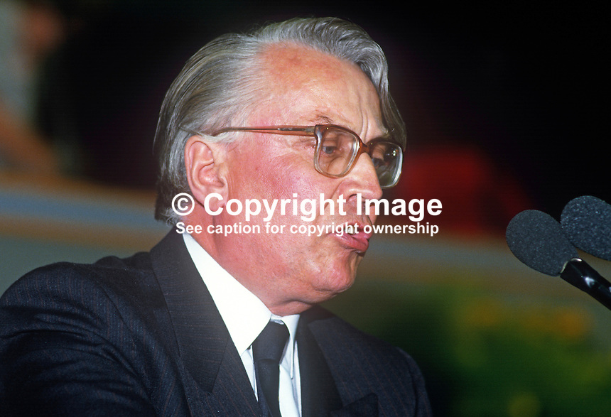John Golding, general secretary, National Communications Union, UK, speaking at TUC annual conference, September 1986. 19860910JG1<br /> <br /> Copyright Image from Victor Patterson, 54 Dorchester Park, Belfast, UK, BT9 6RJ<br /> <br /> t1: +44 28 9066 1296<br /> t2: +44 28 9002 2446<br /> m: +44 7802 353836<br /> <br /> e1: victorpatterson@me.com<br /> e2: victorpatterson@gmail.com<br /> <br /> www.victorpatterson.com<br /> <br /> IMPORTANT: Please see my Terms and Conditions of Use at www.victorpatterson.com