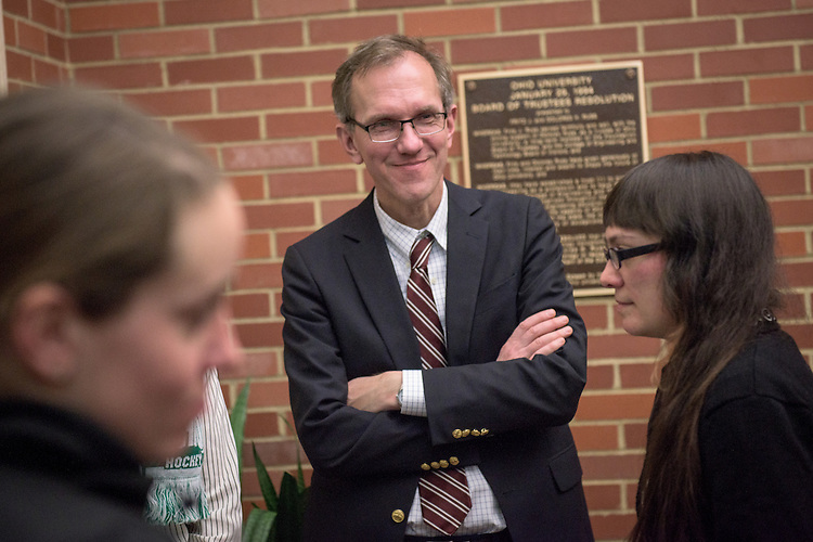 Joseph Shields, Vice President for Research & Creative Activity and Dean of Ohio University's Graduate College attends the 3 Minute Thesis Competition at the Stocker Center on February 15, 2017.